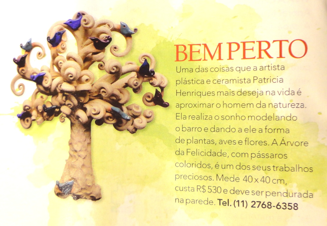 Revista Bons Fluidos de Abril - Árvore da Felicidade!