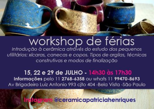 WORKSHOP DE FERIAS 14H30